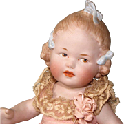 """9"""" Gbr. Heubach """"Girl with 3 Bows"""" ~ Rare & Wonderful All Bisque Doll!"""