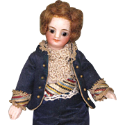 "5 1/4"" French Mignonette Gentleman ~ All Original All Bisque Doll"