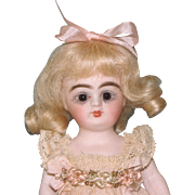 "Gorgeous 5 1/4"" Early Kestner '184/6' All Bisque Doll"