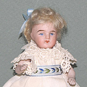 """4 3/4"""" Later Kestner All Bisque 257/12 Doll ~ Very Cute!"""