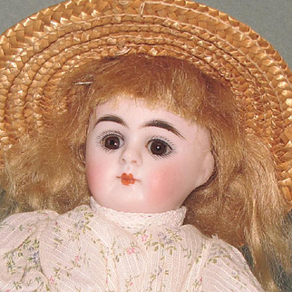 "Gorgeous 6 1/2"" Early Kestner '208 / 8' with Gold Boots All Bisque Doll"