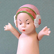 """4 3/8"""" Gbr. Heubach Chin Chin Baby Girl ~ All Bisque Character Doll"""