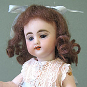 """Darling & Rare S&H 886 Mignonette with 5 Strap Bootines ~ 7 1/2"""" All Bisque Doll"""