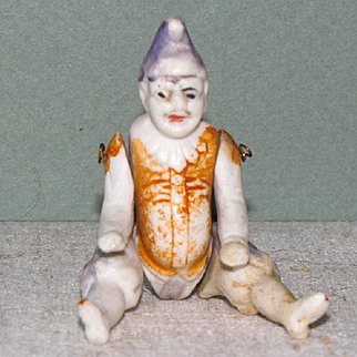 "3 1/4"" Early Polichinelle All Bisque Doll"