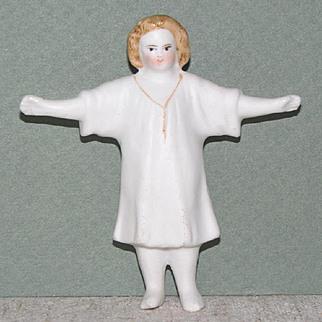 "3 1/8"" Frozen Charlotte / Charlie...Perhaps Young Jesus"