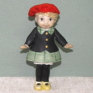 "4 3/4"" Little Annie Rooney All Bisque Doll"