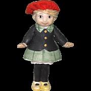 """4 3/4"""" Little Annie Rooney All Bisque Doll"""