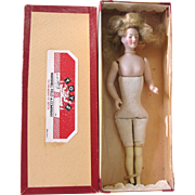 """MIB 6 1/2"""" Dollhouse Lady Doll Molded Breasts with Jointed Arms"""