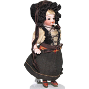 "3 1/2"" S&H Mignonette All Bisque Doll ~ All Original!"
