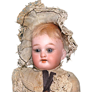 """Cute 6 1/2"""" Bisque Head Girl ~ All Original Doll"""