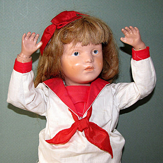 "19"" Early Schoenhut Doll ca 1916 Nice Condition!"