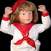 "19"" Early Schoenhut Doll ca 1916 Nice Condition!"