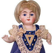 """6"""" Early Kestner ~ Yellow Boots & Cobalt Eyes ~ All Bisque Doll"""