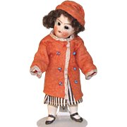 "4"" French Little Girl All Original ~ Mignonette All Bisque Doll"