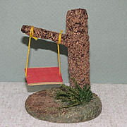 "Hertwig Tree Swing with NO Dolls ~ 4 1/2"" Tall"