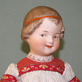 "9"" Gbr. Heubach ""Coquette"" ~ Rare & Wonderful All Bisque Doll!"