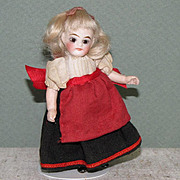 "3 1/2"" Kling '31-9' Swivel Neck All Bisque Doll"