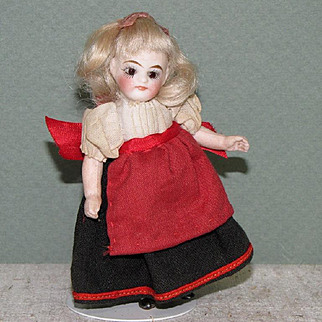 """3 1/2"""" Kling '31-9' Swivel Neck All Bisque Doll"""