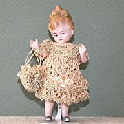 "4 1/2"" Limbach P71 All Bisque Doll ~ She's Flirting!"