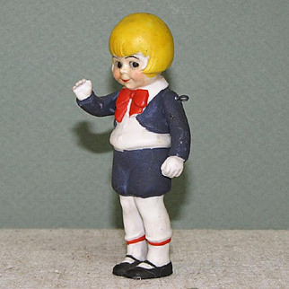"""3 1/2"""" PERRY WINKLE ~ RARE Hertwig 1016/9 German Comic Character with Jtd Arms"""