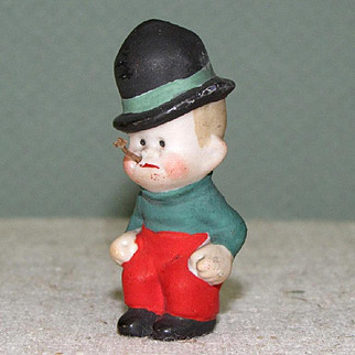 """2"""" Mickey McGuire Hertwig Comic Character from Toonerville Trolley All Bisque Figure"""