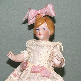 "6"" All Bisque Flapper Doll S&H or Kestner"