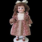 "7 1/2"" Kestner 545/18 All Bisque Girl in Wonderful Dress!"