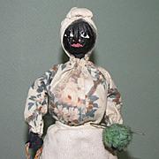 """10"""" Loveleigh Novelties Black Folk Art Doll ~ Aunt Lucy"""