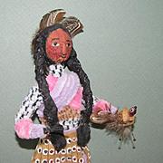 "11 1/2"" Loveleigh Novelty Indian Doll with ""Snark"""