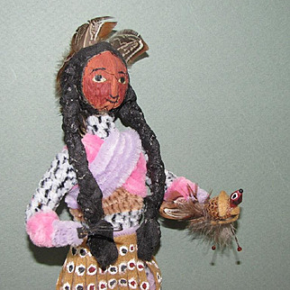 "11 1/2"" Loveleigh Novelty Indian Doll with ""Snark"""