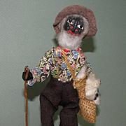"8 1/2"" Loveleigh ""Old Black Joe"" ~ Folk Art Doll"