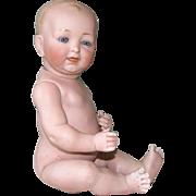 "10 1/2"" Kestner All Bisque Baby ~ Glass Eyes & Swivel Neck"