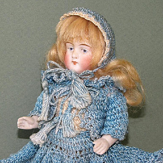 "Wonderful 5 1/2"" Kestner All Bisque Doll ~ '130/4' All Original and Perfect!"