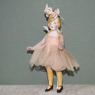 "5"" All Bisque Flapper ~ Very Cute & Petite ~ Pixie-ish!"