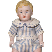 """5 1/2"""" Early Kestner Baby ~ All Bisque with Beautiful Clothing"""