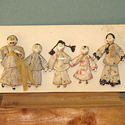 """Chinese Family of 5 - 2 1/4"""" to 3 1/8"""" ~  Mission Made on Card"""