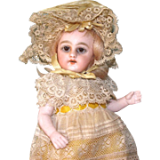"""7"""" S&H '886 / 2' All Original & Lovely All Bisque Doll / Mignonette"""