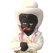 "Detailed 5"" Bisque Figure of Young Black Man ~ Victorian Style"