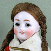 "Charming 6 3/4"" Kestner All Bisque Character Doll '150 / 7' Factory Original"