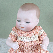 """4 3/4"""" All Bisque Bye-Lo Baby made by Kestner 1925"""