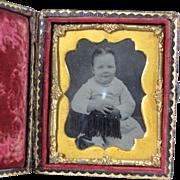 Daguerreotype in Embossed Case ~ Young Child