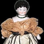 """7 1/4"""" Small Dollhouse China Head Doll"""