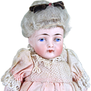 "6"" Early Kling All Bisque Girl Doll with Original Clothing"