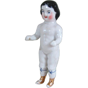 """Rare 3"""" Frozen Charlotte with Molded Over-the-Knee Stockings"""