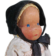 "7 1/2"" German Jointed Wood Wooden Doll ~ made by Lotte Siever-Hahn"