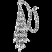 Vintage Juliana Bezel Dangle Neck Tie Necklace Rhinestones Book Piece