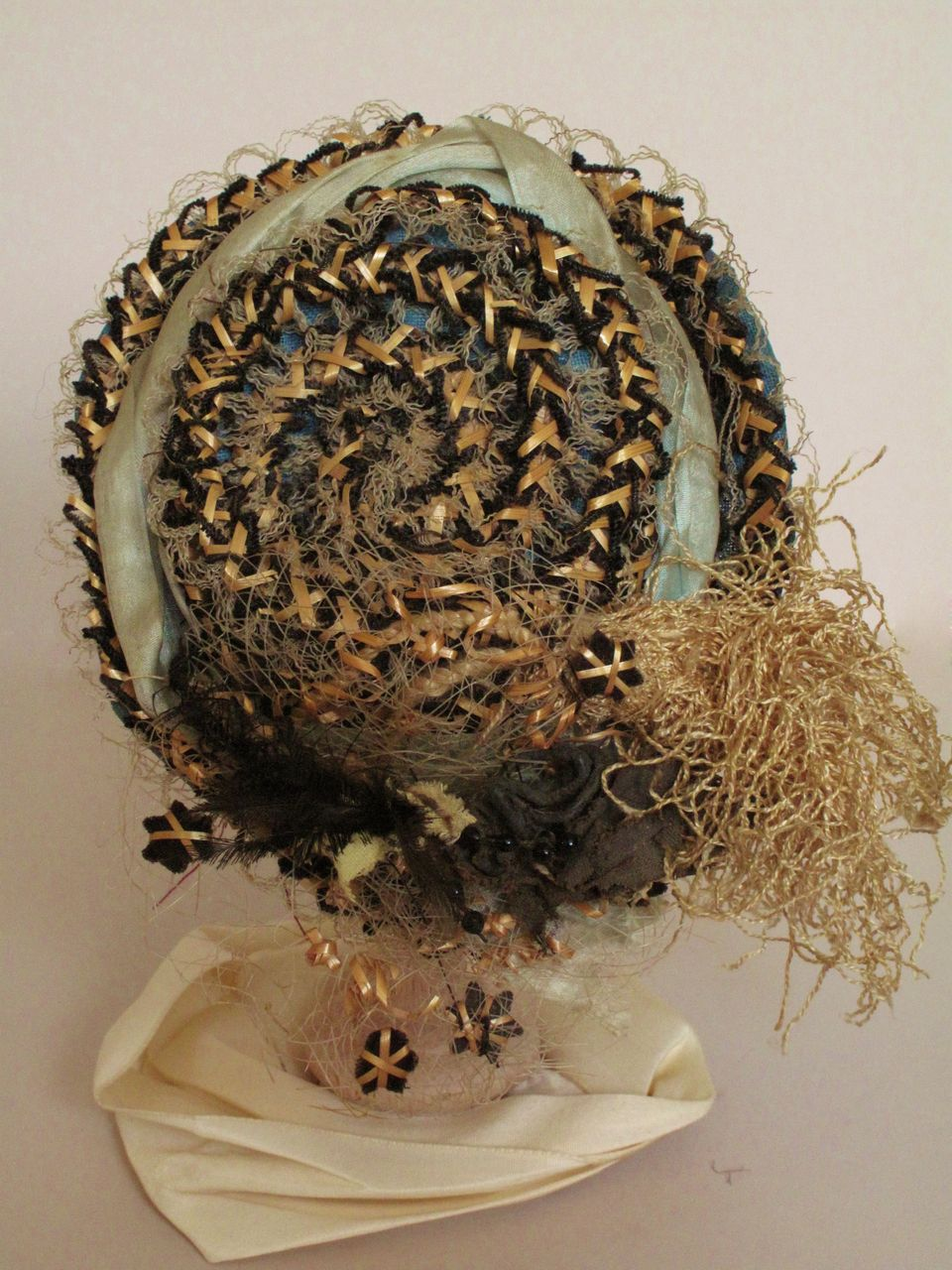 Fabulous Antique Straw Fashion Hat