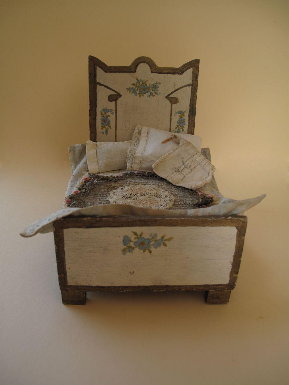 Miniature Handpainted Bed