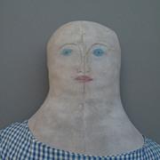 19th Century Folk Art Cloth Doll - Red Tag Sale Item