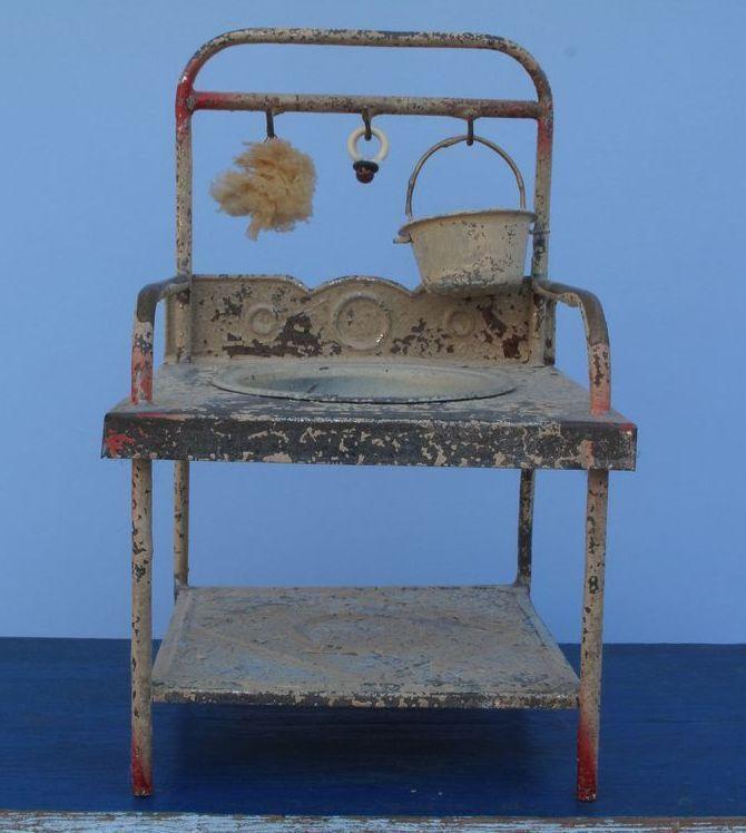 Miniature German Washstand / Original Accessories!!